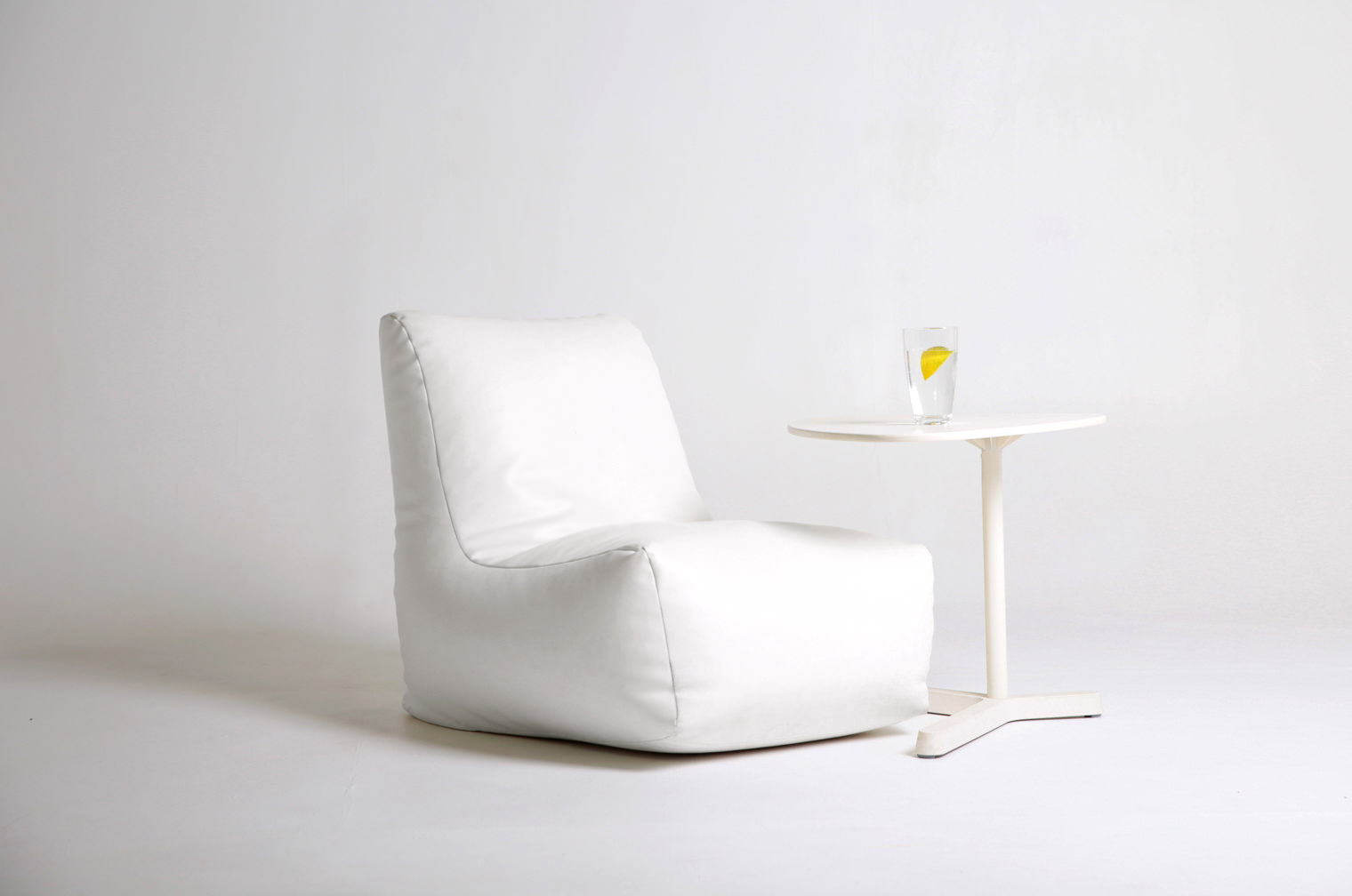 low lounger and side table