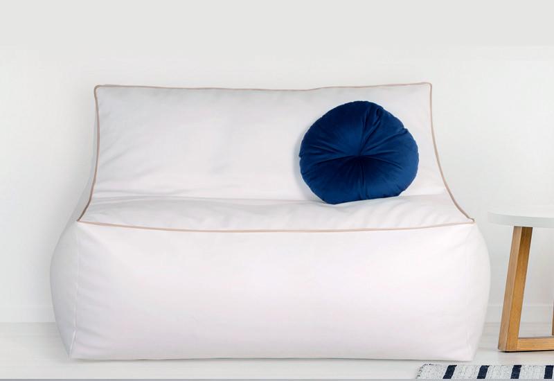 cushion on bean bag